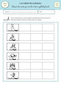 Phono gs localiser des syllabes - Couper les mots en syllabes ...