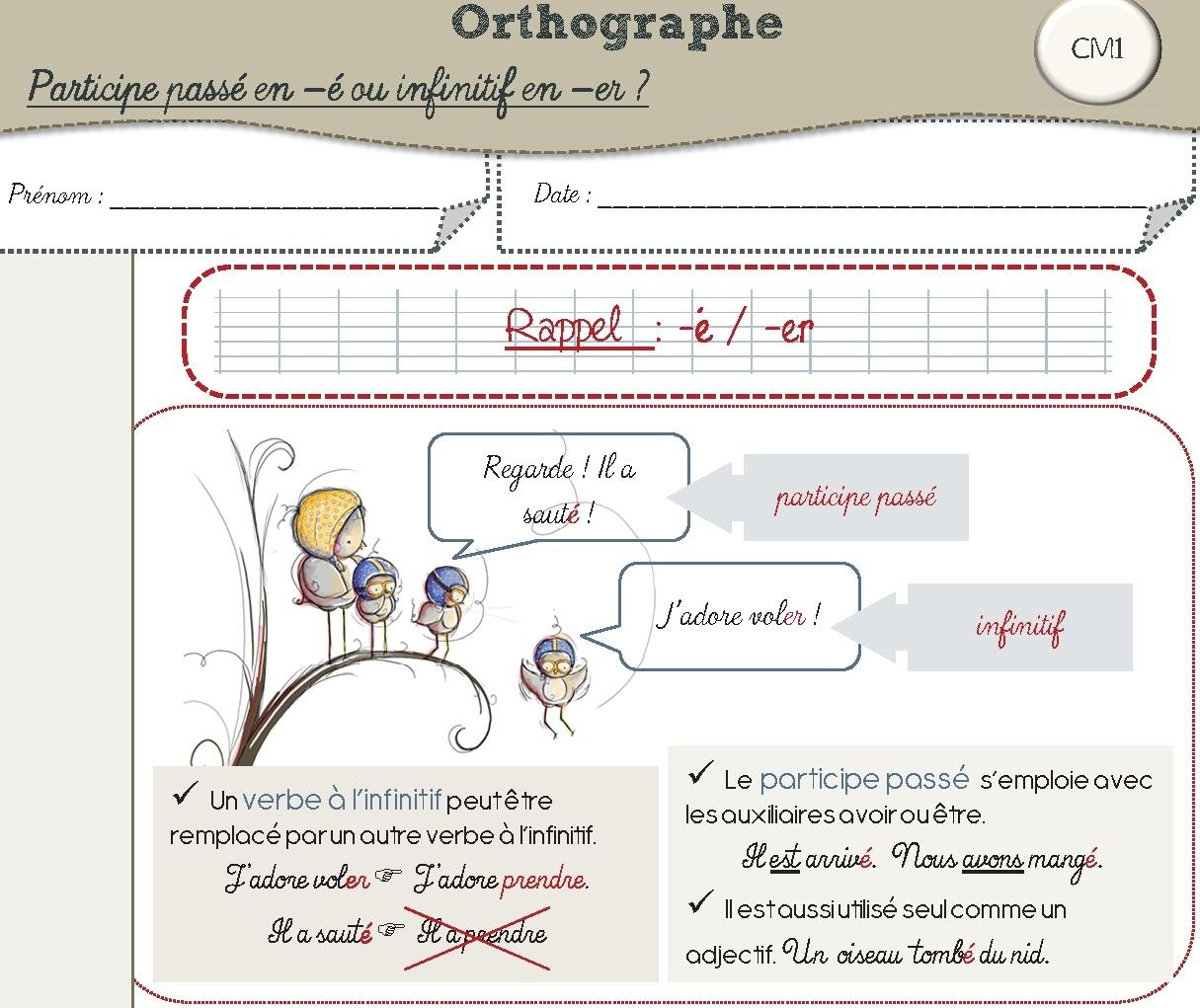 Orthographe CM1 (+classeur ZIL)