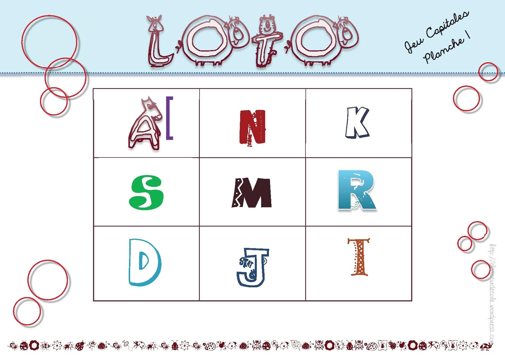 Loto de l aphabet ms gs - Lettres alphabet maternelle ...