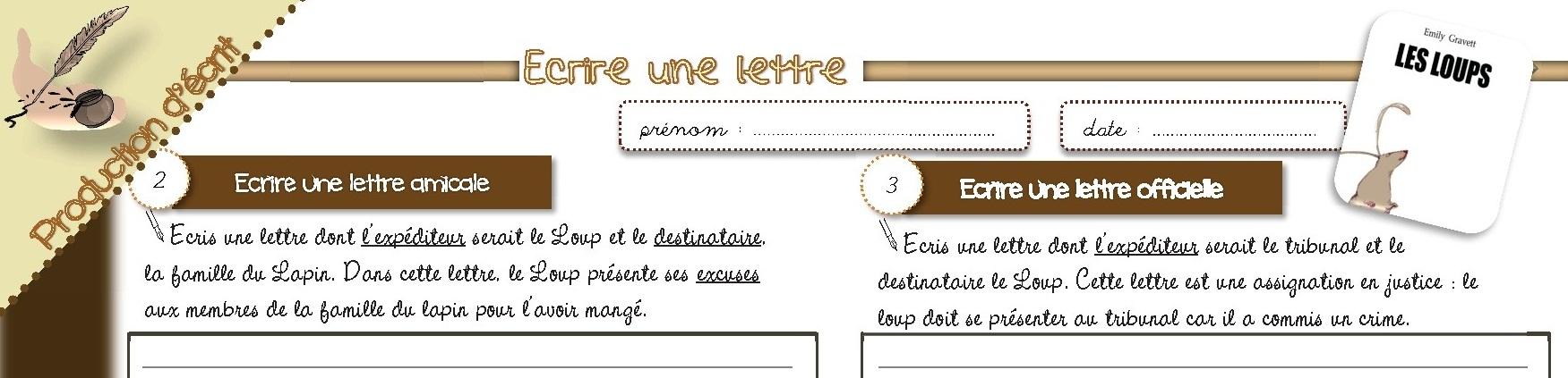 Production D Ecrit Cm1 Ecrire Une Lettre