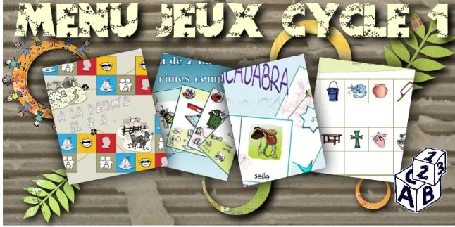 menu jeux cycle 1