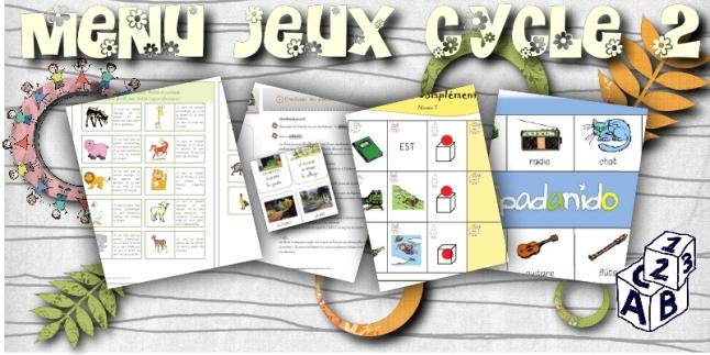 menu jeux cycle 2