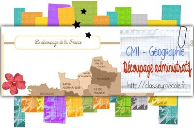 géographie CM1 découpage adm